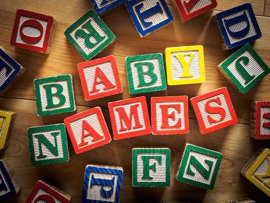 baby names wooden blocks