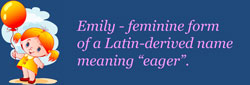 girl name meaning - emily